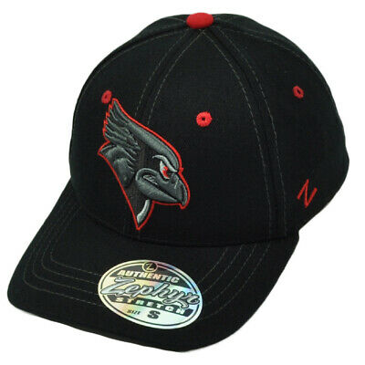 san francisco c60a4 9ab88 NCAA Zephyr Illinois State Redbirds Flex Fit Small Stretch Hat Cap Black Red