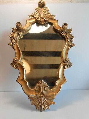 ANCIEN MIROIR BOIS DORE / Golden wood mirror