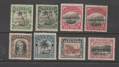 AITUTAKI 1920 KGV Pictorials Mint lightly hinged set 6 +2 stamps.