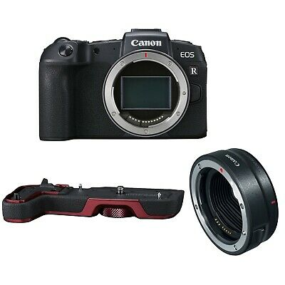 Canon EOS RP Body Bundle w/Mount Adapter EF-EOS R & Red EG-E1 Grip *NEW*