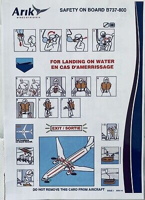 ARIK Air , Wings Of Nigeria Boeing 737-800 Safety Card In Good Conditions