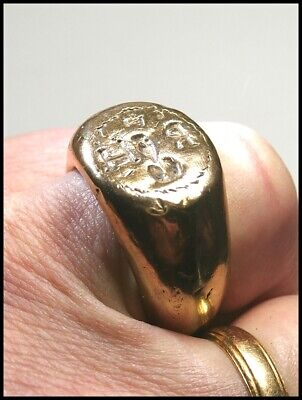 Very Rare Huge Medieval Lancastrian Royal Falconers Gauntlet Seal Ring