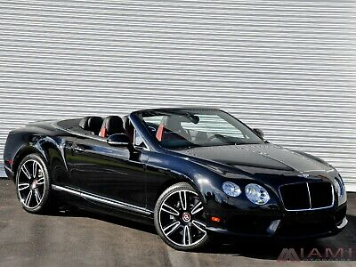 2013 Bentley Continental GT GTC Mulliner!! Black/Red 2013 Bentley Continental GTC V8 Mulliner Spec!! Black/Red!! 1-owner
