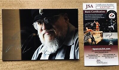 JSA GEORGE RR MARTIN SIGNED 4x6 PHOTOGRAPH GAME OF THRONES AUTO SIGNATURE