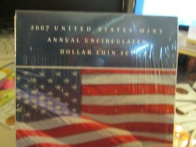 2007 Us Mint Annual Unc Dollar Coin Set Sealed From Mint  Xx3