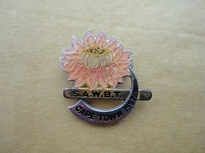 South Africa Bowls Badge SAWBT Cape Town 1987 South African Bowling S.A.W.B.T.