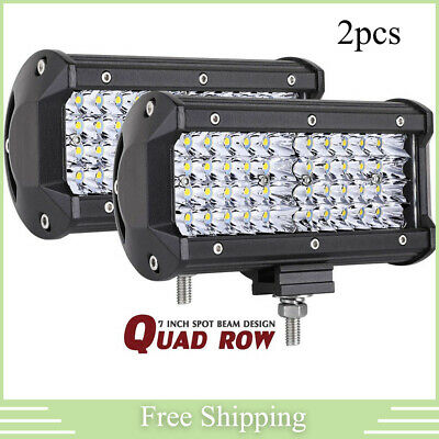 "2X Quad Row 7/"" 480W Led Work Light Bar SPOT For Polaris Sportsman//RZR//Ranger ATV"