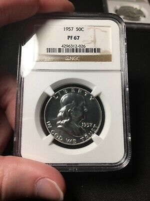 1957 US Franklin Silver Half Dollar Proof 50C - NGC PF67 *FREE SHIPPING*