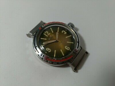 Wostok Amphibian Diver 2209  made in USSR Vostok 200m  Amfibia swinging lugs