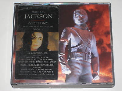 Michael Jackson-History Greatest Hits 2 X Cd Box Sticker 1995 Thriller Bad Janet