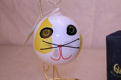 Glass Eye Studios - Cat white with yellow markings