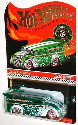 MOMC 2013 RLC Exclusive Edition Holiday Car green Drag Dairy Delivery LOW #0039