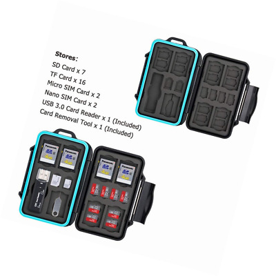 JJC Memory Card Case 27 Slots Carrying Water-Resistant Holder Storage SD SDHC SD