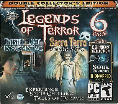 TWISTED LANDS INSOMNIAC Hidden Object LEGENDS OF TERROR 6 PACK CE PC Game NEW