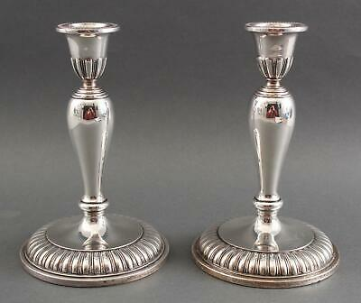 Pair Antique 1949 Canadian Birks Sterling Silver, Weighted Candlesticks