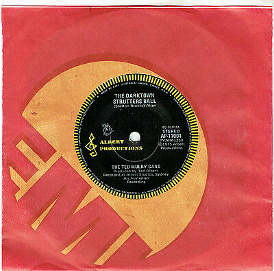 """The Ted Mulry Gang - The Darktown Strutters Ball - 7"""" 45 Vinyl Record - 1975"""