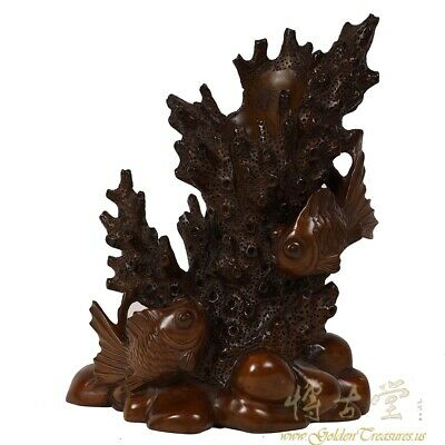 Vintage Chinese Carved rosewood Pen Holder