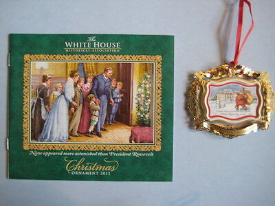 White House 2011 Historical Assoc Christmas Ornament Theodore Roosevelt