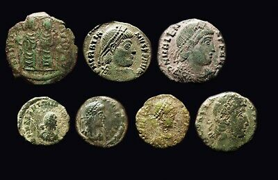 LOT OF 7 VERY FINE  Ancient ROMAN & BYZANTINE  Bronze coins