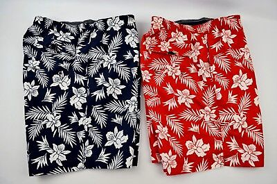 5ce101b6d7 Set of 2 LANDS END Men's Swim Trunks Board Shorts Mesh Lining Size XL