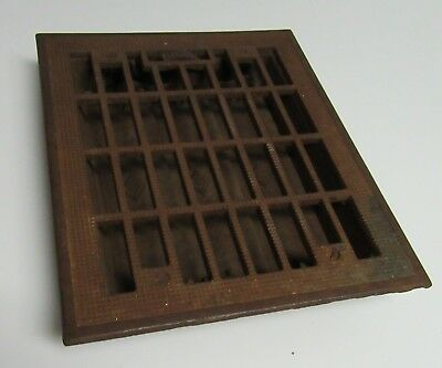 Antique Cast Iron Victorian Floor Heater Register Grill Grate With Louvres 8x10
