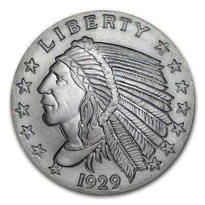 2~Oz ~ Pure .999 Silver Round ~ Indian Head ~Awesome~ $9.99 ~ No Reserve Auction