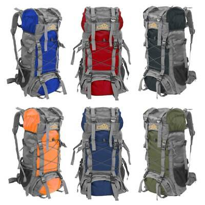 60L Large Waterproof Outdoor Camping Hiking Backpack Travel Trekking Pack