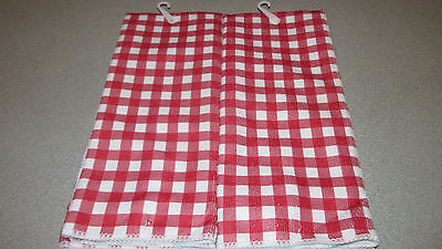 NWT~2~ Matching  Kitchen Towels~Red & White~Polyester- Plaid