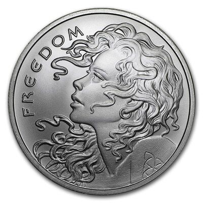 2018 ~ 1~Oz ~ Pure .999 Silver Round ~  Freedom  Girl  ~ Limited ~ $9.99 Auction