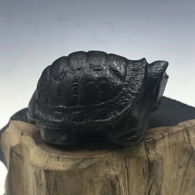 Chinese longevity turtle hand carved wooden turtle Vietnam agarwood wood.   t156