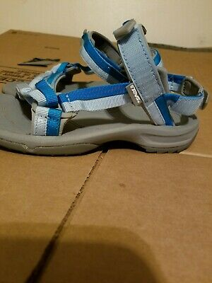 18e80bfb9e03 TEVA TERRA FI 4 MADANG BLUE STRAPPY SPORT HIKING SANDALS Sz 8.5 ...