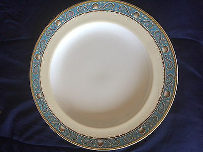 "Wedgwood Bone China RARE Runnymede Turquoise LARGE 13"" Round PLATTER W3880"