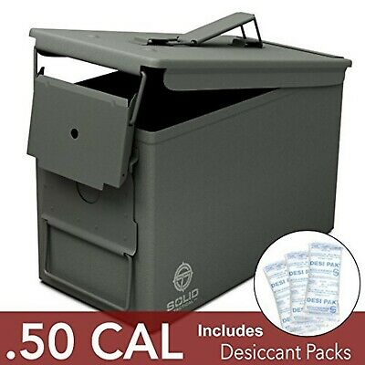 Solid Tactical 50 Cal Ammo Can – New Steel Ammo Box Military & Army M2A1 for ...