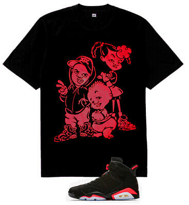 The sneaker heads Bebe Kids vi shirt  for  air Jordan 6 Retro Black Infrared Tu