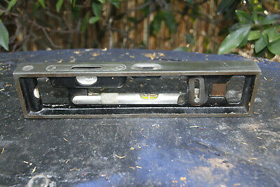 Antique L S Starrett 10in Cast Iron Inclinometer Engineers Level. Nice old tool