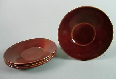 Japanese Lacquer ware Drink Coaster Shunkei nuri Wooden Chataku Saucer 4pc LW746