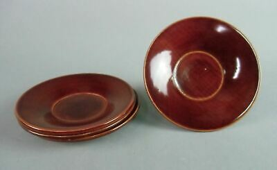 Japanese Lacquer ware Drink Coaster Shunkei nuri Wooden Chataku Saucer 4pc LW745