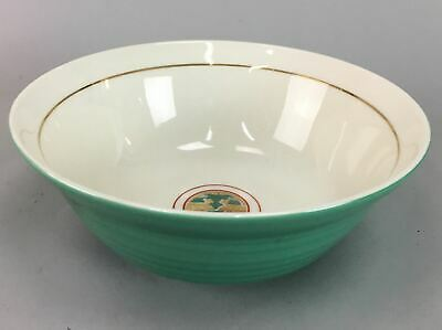 Japanese Porcelain Snack Bowl Vtg Kashibachi Tea ceremony Green Signed PT135
