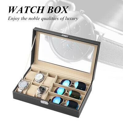 9 Grids PU Leather Watch Display Case Jewelry Collection Storage Holder Box Gift