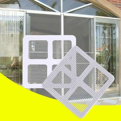 Window Door Tent Mesh Screen Repair Patches Self-Adhesive Covering Holes Patches