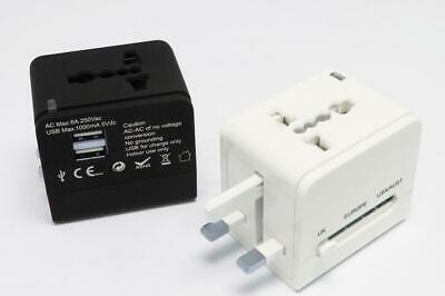 World Wide Universal Travel Adapter AC Multi Plug Charger with Dual USB 2 Ports
