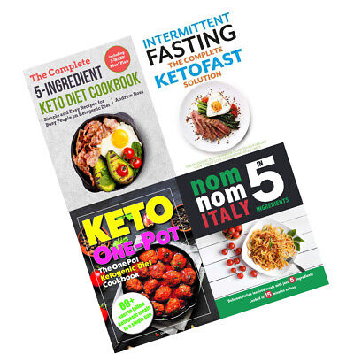 Keto Diet Cookbook Collection 4 books Set Complete 5-Ingredient,KETOFAST