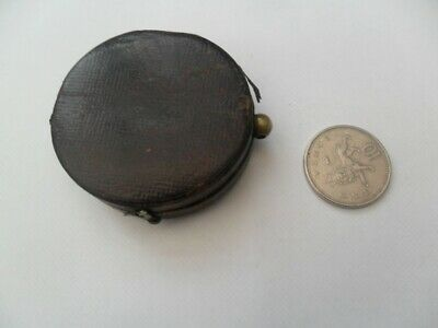 small cased antique compass