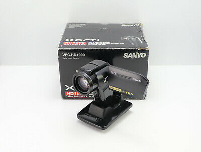 Sanyo Vpc-Hd1000 Camcorder Boxed Sd / Sdhc Card Hd High Definition Digital Video