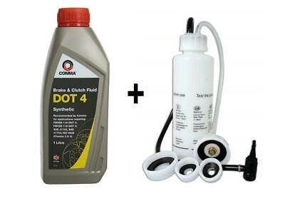 1L DOT4 Brake & Clutch Synthetic Hydraulic Fluid + Auto Hydraulic Bleeder Kit