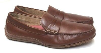 ec4a8b15c13 Florsheim Men s Oval Penny Driver 9 M Cognac Brown Leather Slip On Loafers  Shoes