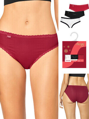 * 3 Pack * Sloggi Weekend Hipster Briefs 10194073 Low Rise 95% Cotton Knickers