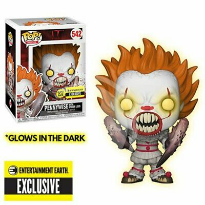 """Funko IT PENNYWISE GLOW IN DARK 3.75"""" Pop Figure Entertainment Earth Exclusive"""