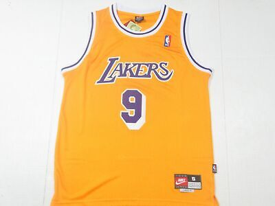 ce2a2c355 New Nick Van Exel  9 Los Angeles Lakers Swingman Throwback Jersey Yellow