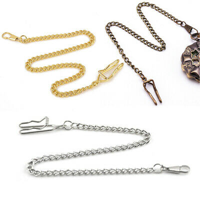 Antique Men Pocket Watch Chain Vintage Fob Jewelry Watches Necklace with Clasp